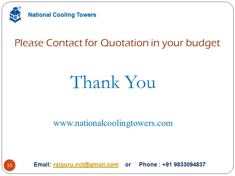 Thank You Please Contact for Quotation in your budget