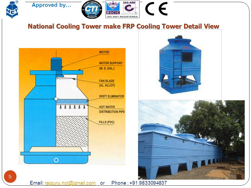 National Cooling Tower make FRP Cooling Tower Detail View