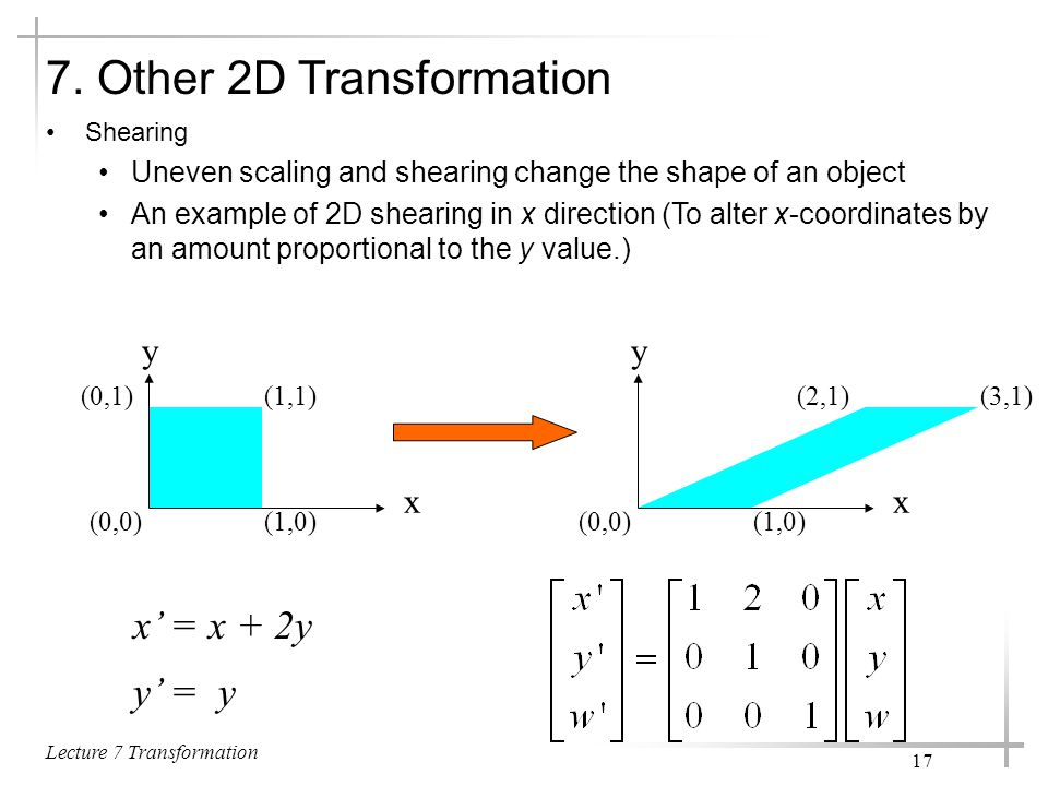 7. Other 2D Transformation