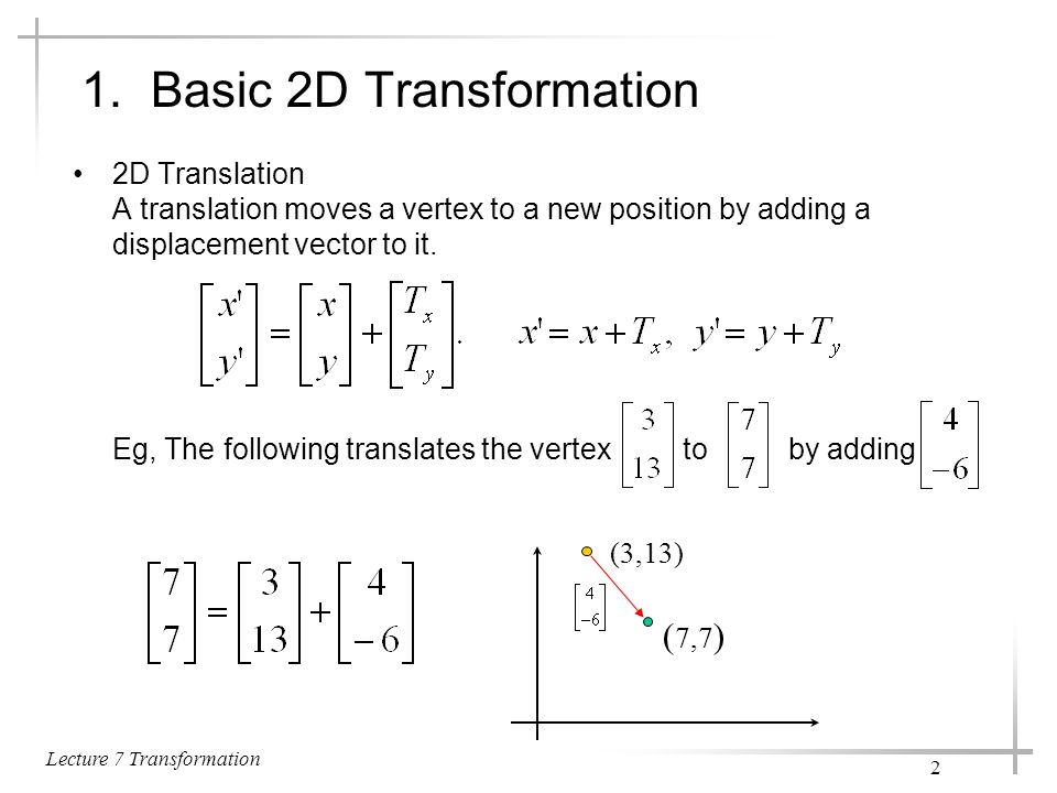 1. Basic 2D Transformation
