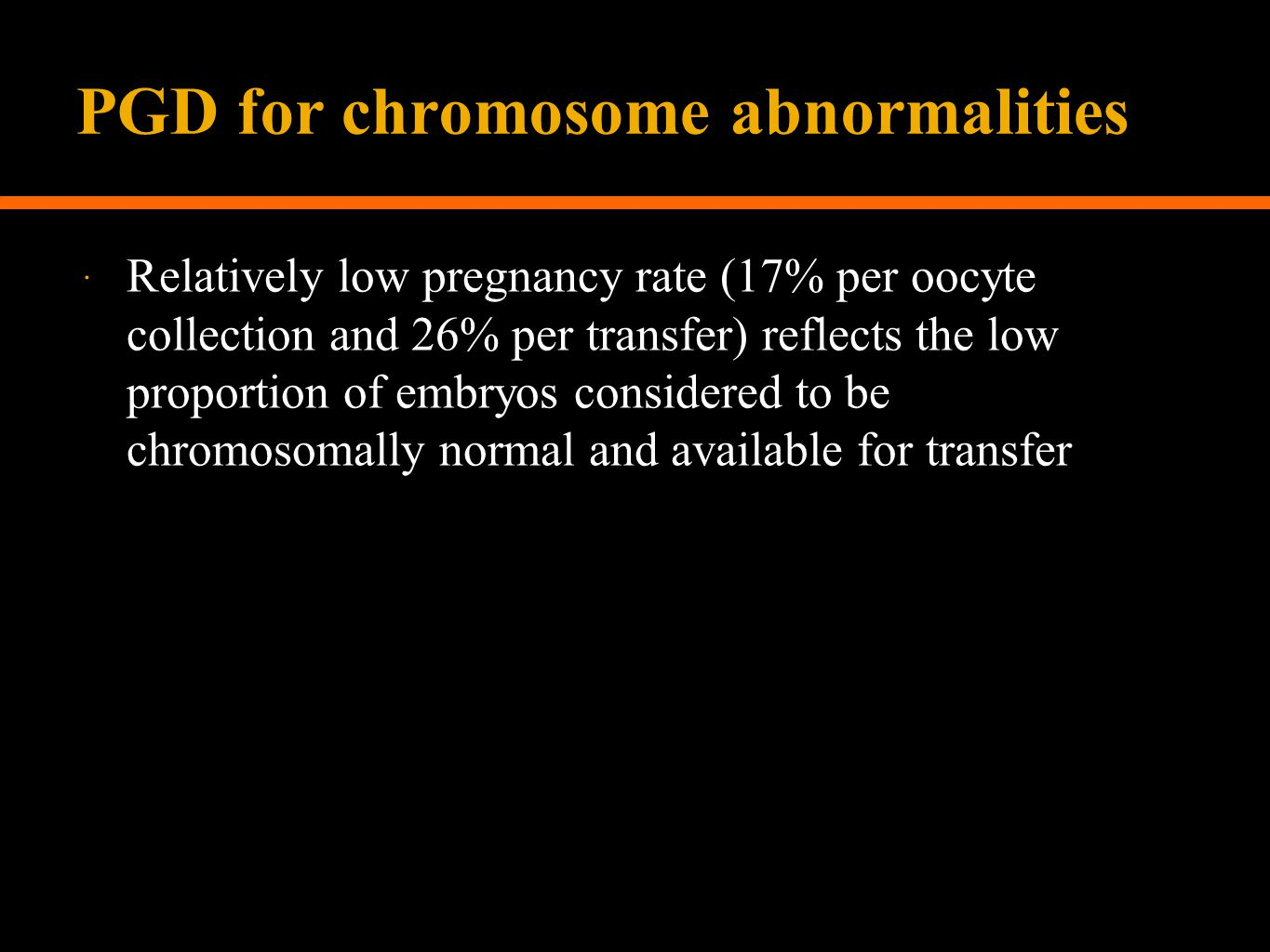 PGD for chromosome abnormalities