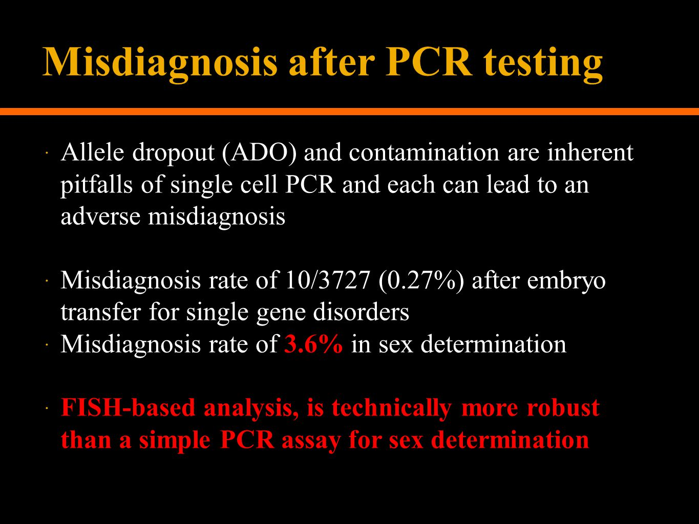 Misdiagnosis after PCR testing