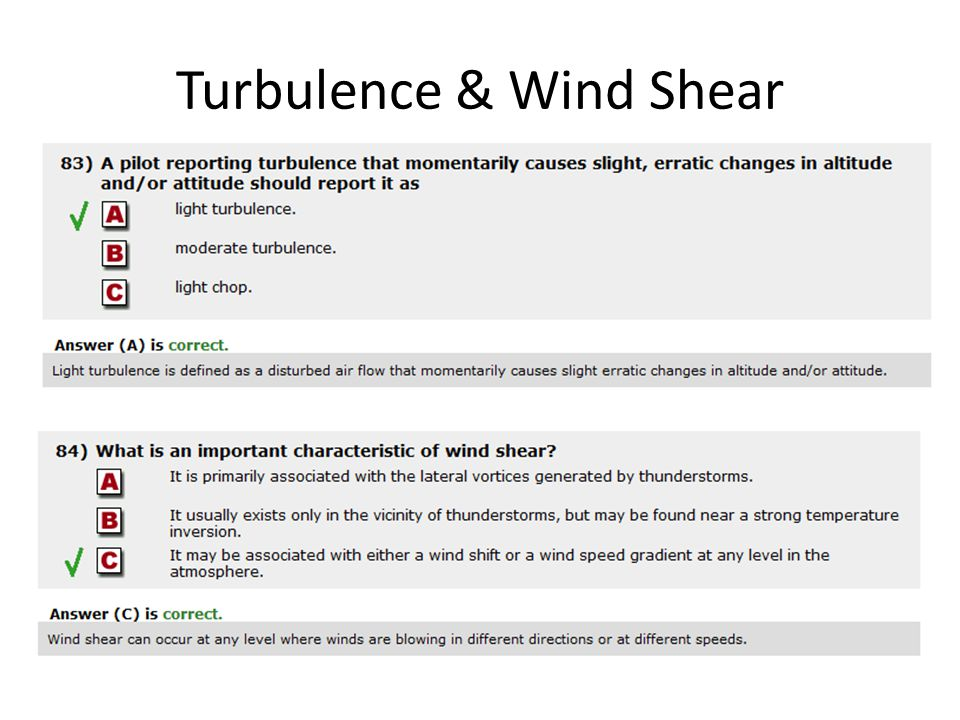 Turbulence & Wind Shear