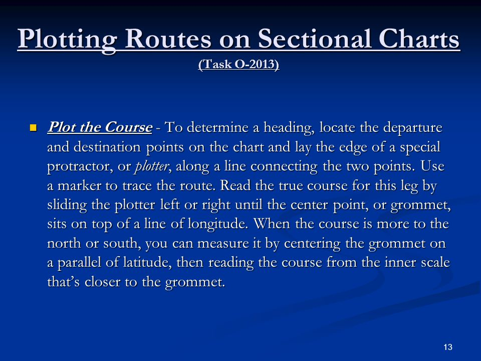 Plotting Routes on Sectional Charts (Task O-2013)