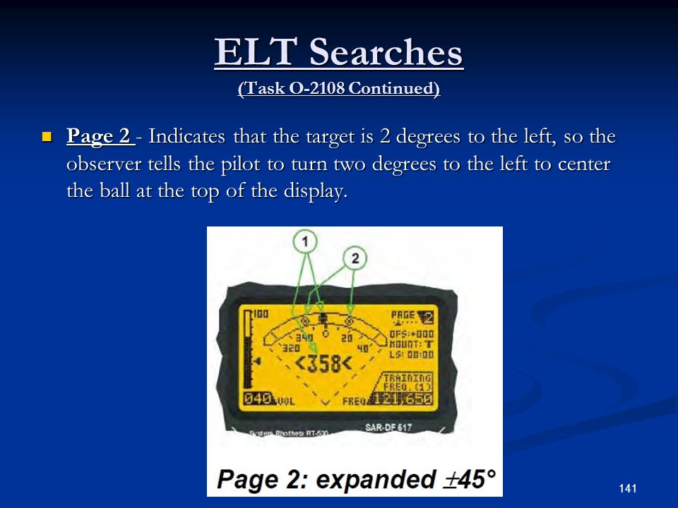 ELT Searches (Task O-2108 Continued)