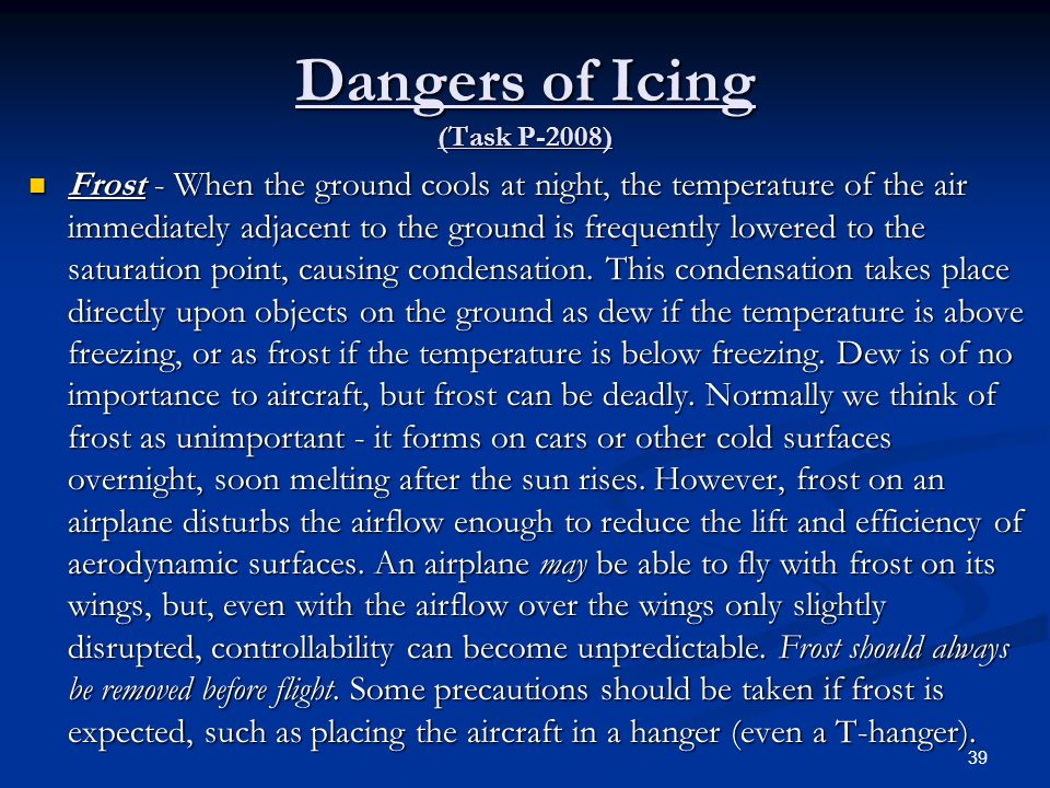 Dangers of Icing (Task P-2008)