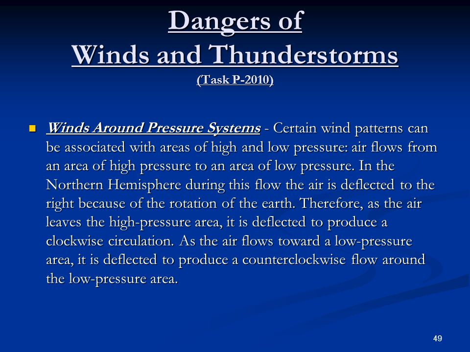 Dangers of Winds and Thunderstorms (Task P-2010)