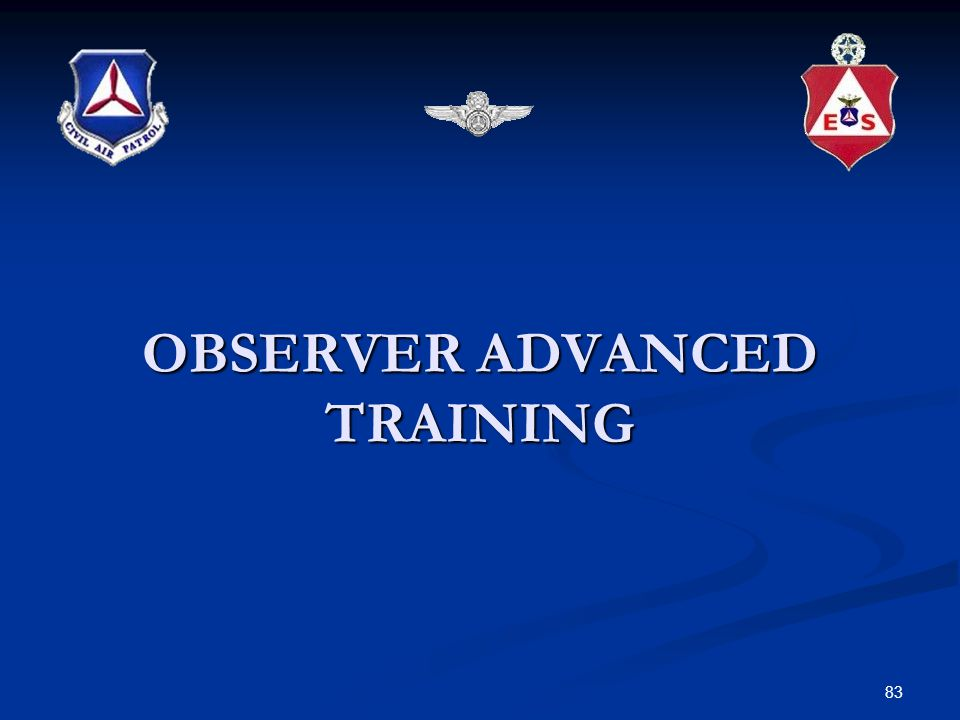 OBSERVER ADVANCED TRAINING