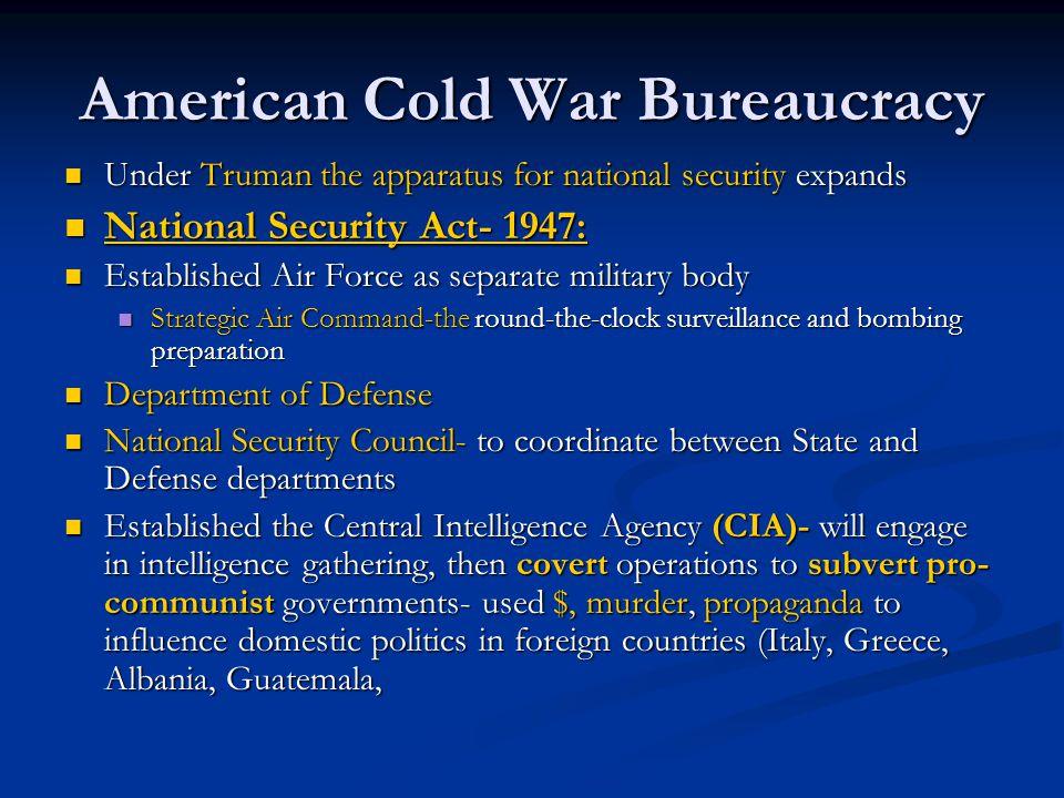 American Cold War Bureaucracy