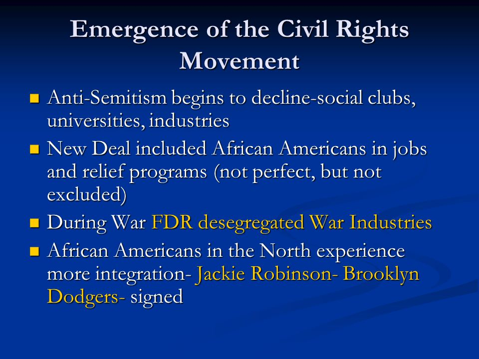 Emergence of the Civil Rights Movement
