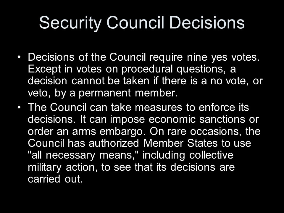 Security Council Decisions