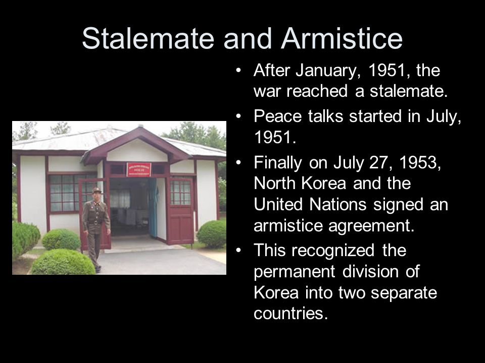 Stalemate and Armistice