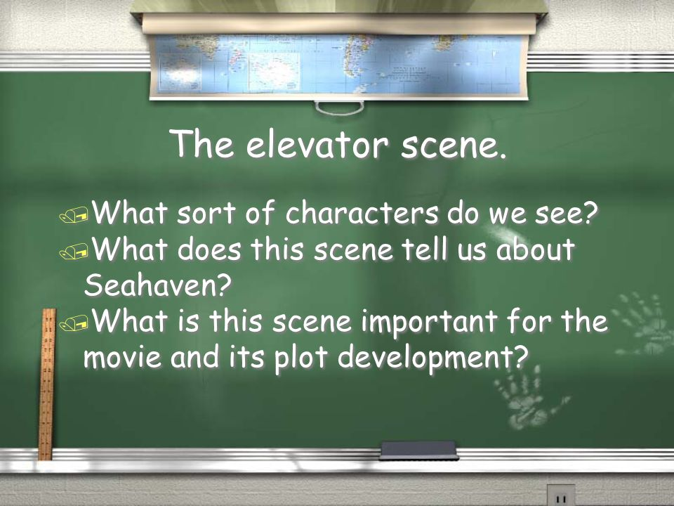 The elevator scene. What sort of characters do we see