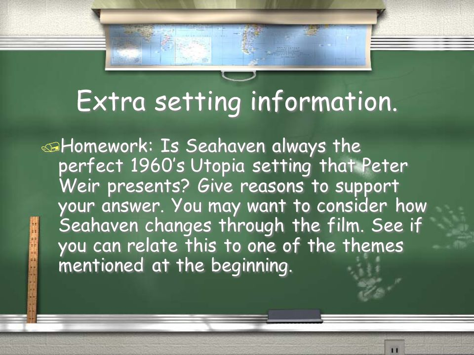 Extra setting information.