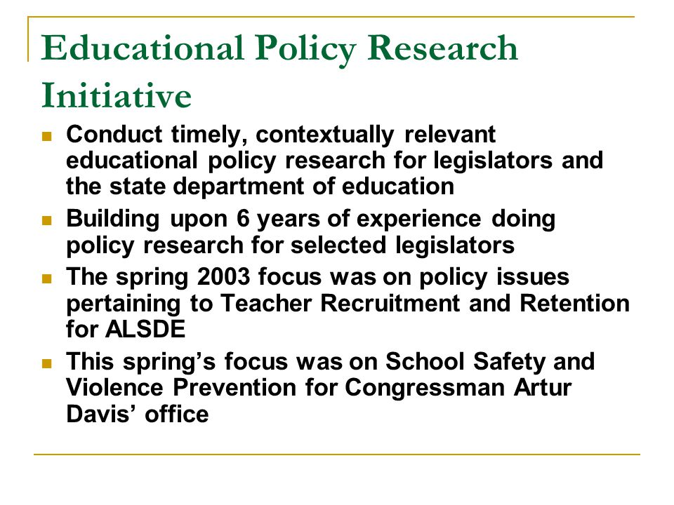 Educational Policy Research Initiative