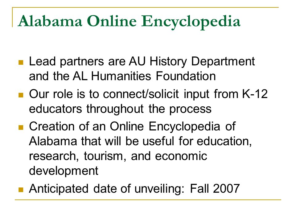 Alabama Online Encyclopedia