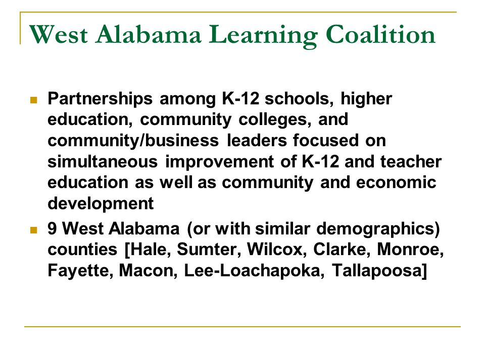 West Alabama Learning Coalition