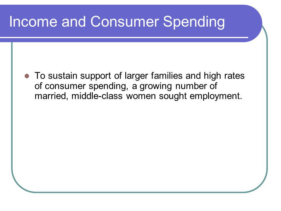 Income and Consumer Spending