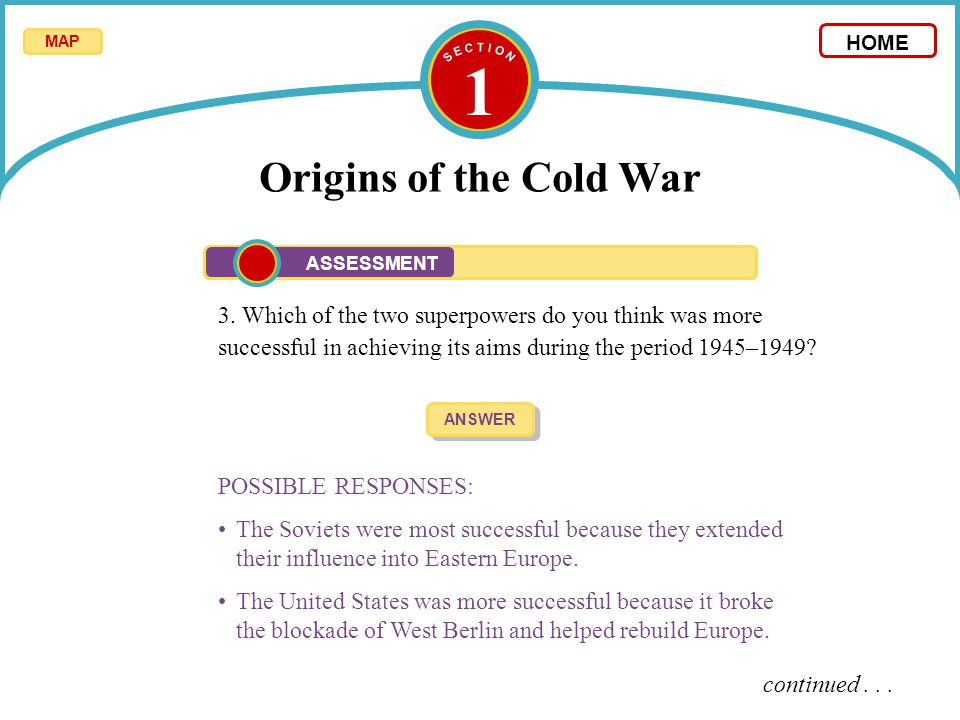 Which of the two superpowers contributed more to the cold war
