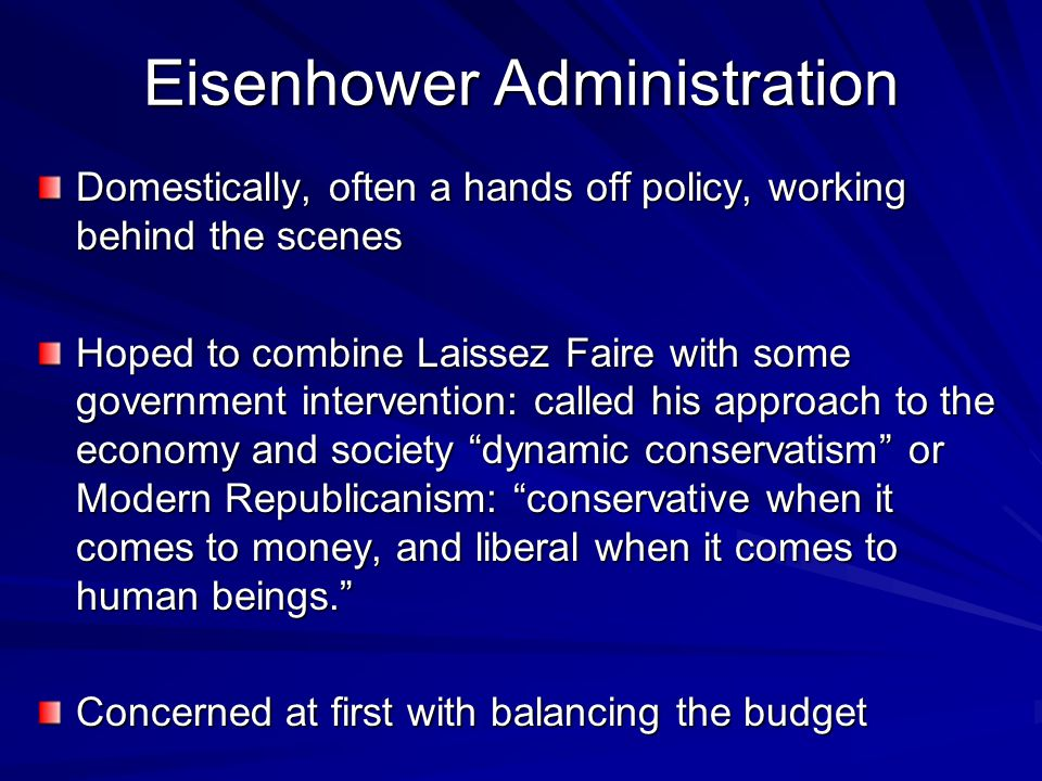 Eisenhower Administration
