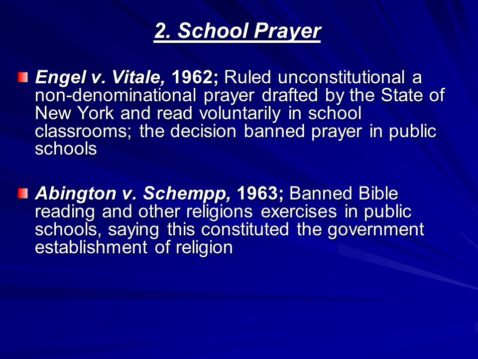 2. School Prayer