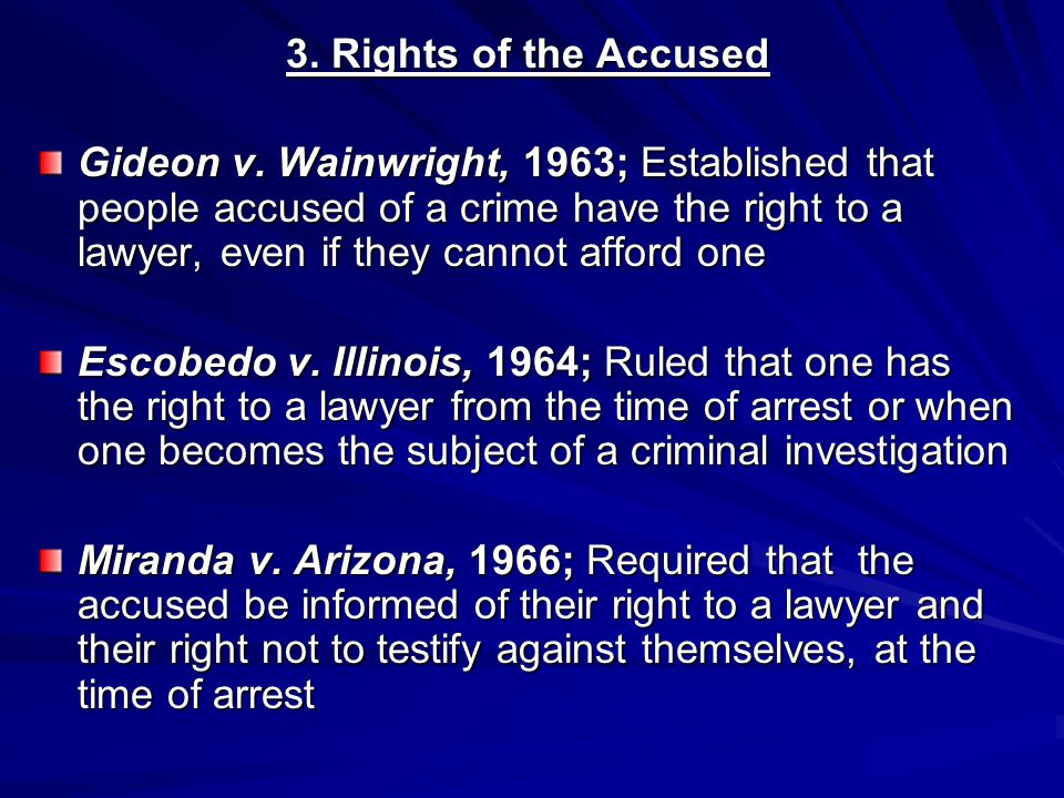 3. Rights of the Accused