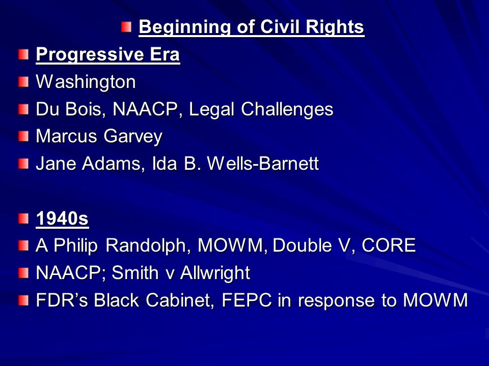 Beginning of Civil Rights