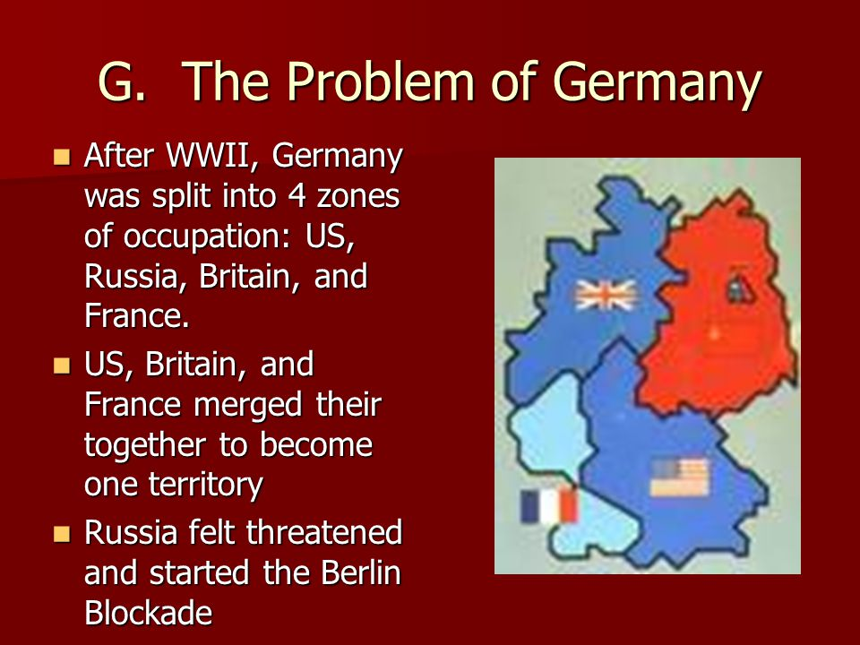 G. The Problem of Germany