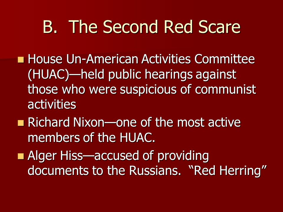 B. The Second Red Scare