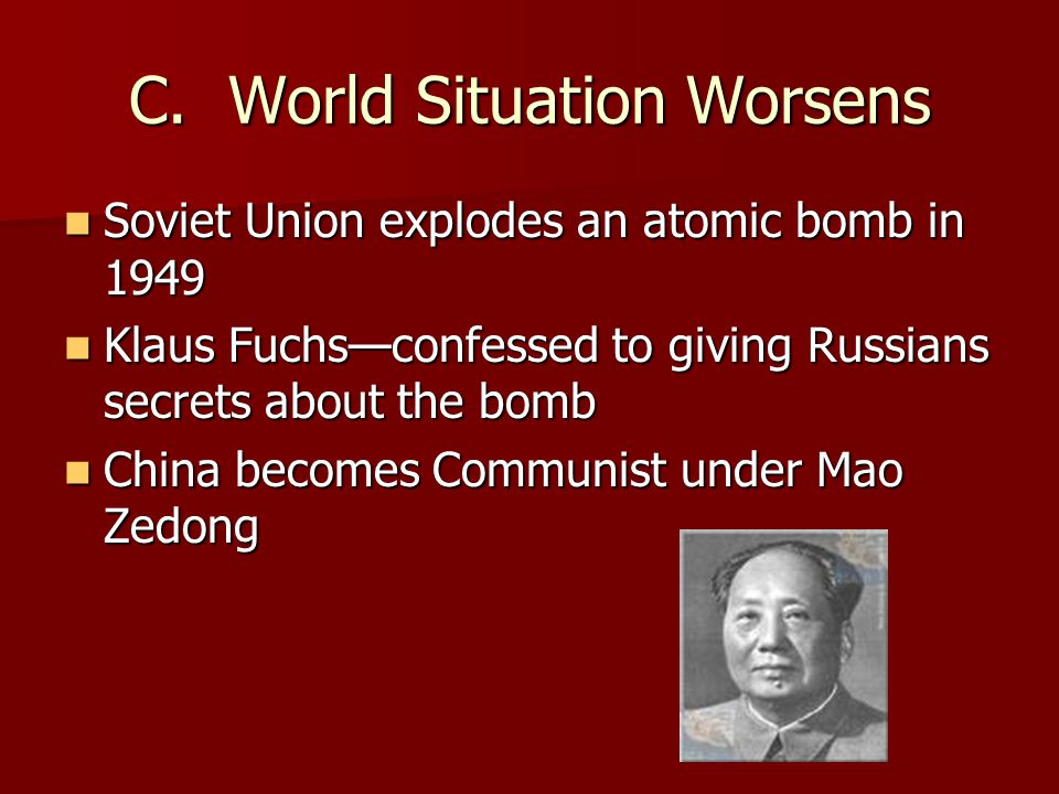 C. World Situation Worsens