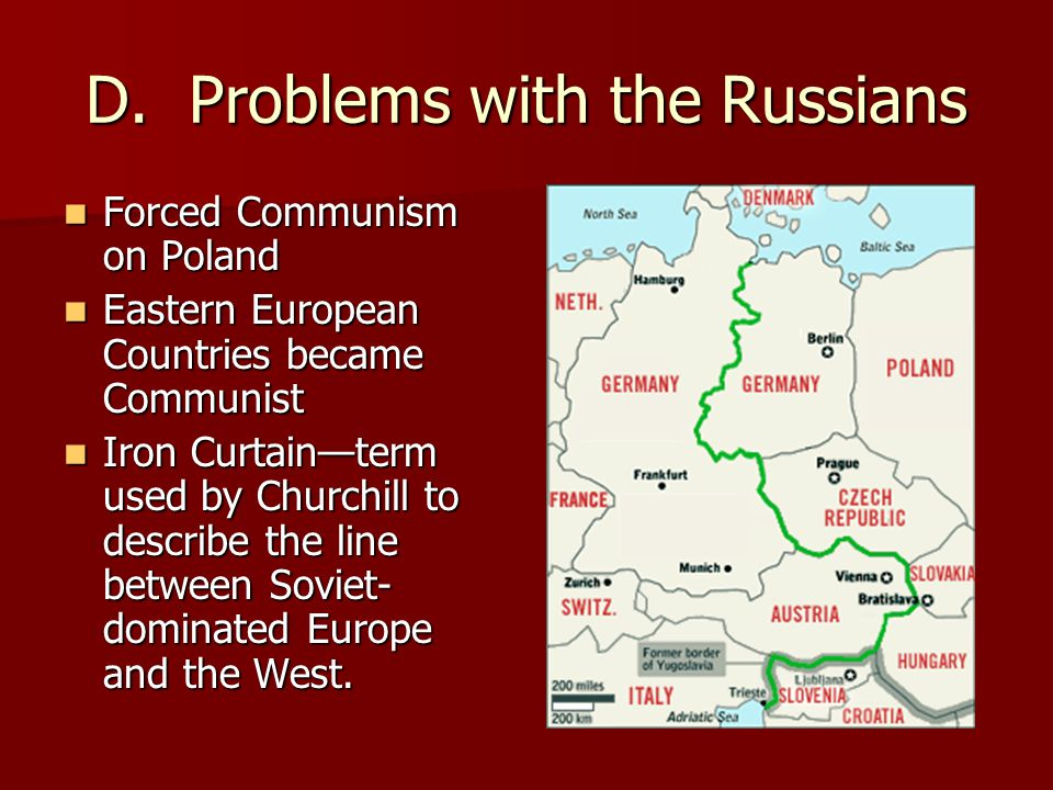 D. Problems with the Russians