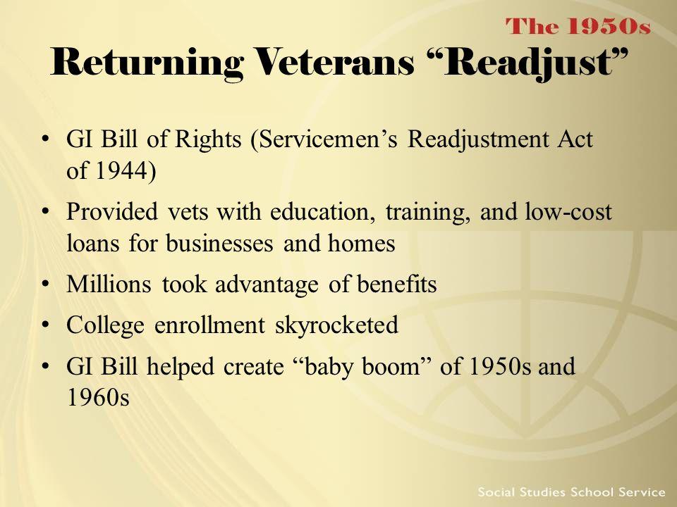Returning Veterans Readjust