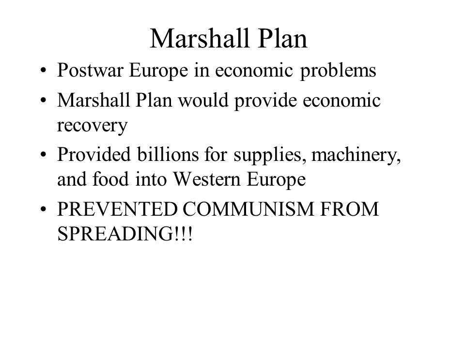 Marshall Plan Postwar Europe in economic problems