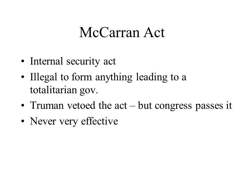 McCarran Act Internal security act