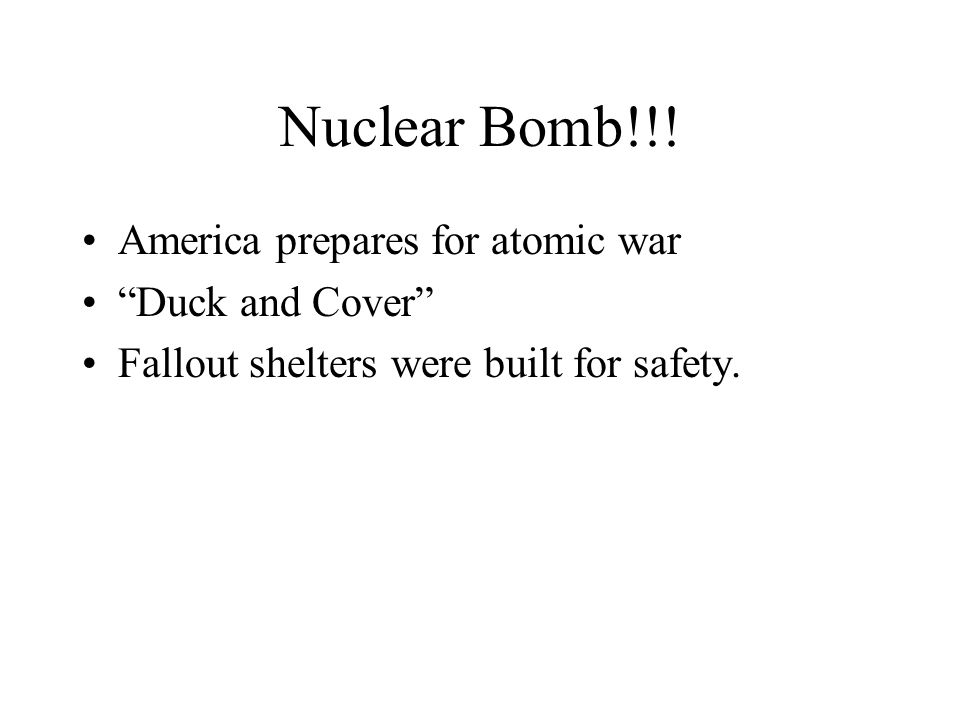 Nuclear Bomb!!! America prepares for atomic war Duck and Cover