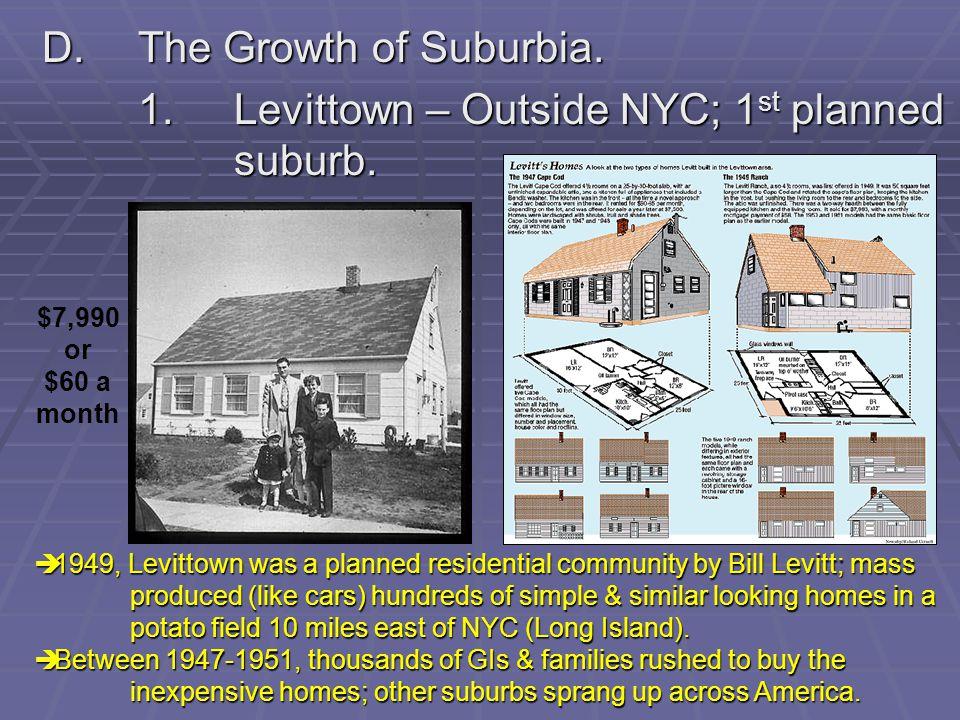 D. The Growth of Suburbia.