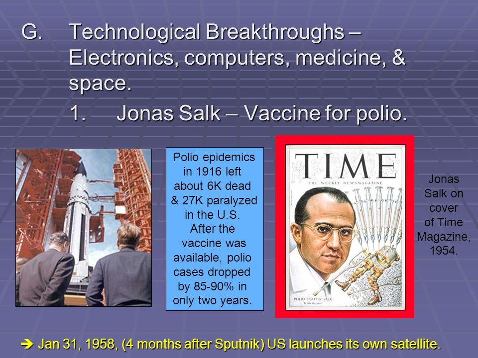 1. Jonas Salk – Vaccine for polio.