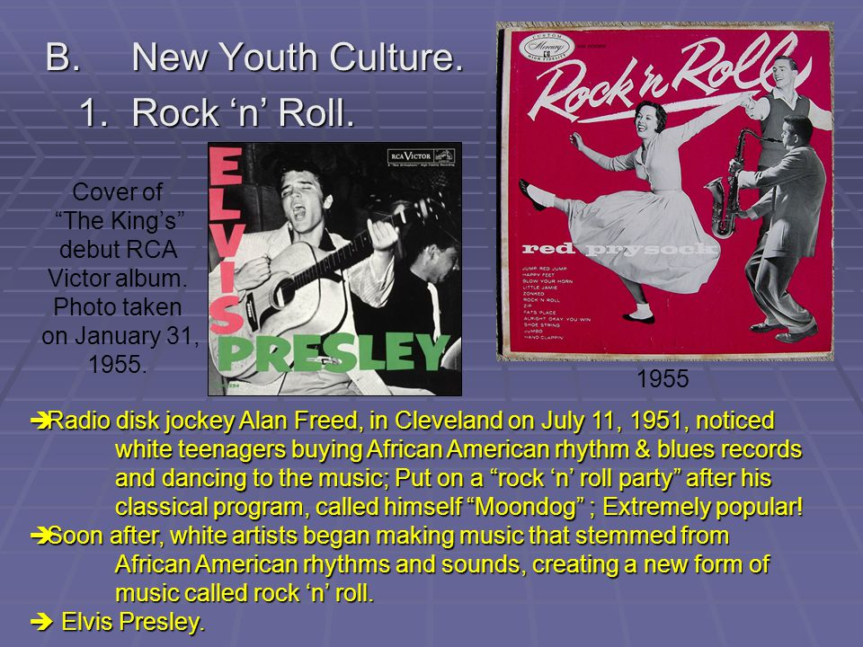 B. New Youth Culture. 1. Rock 'n' Roll. Cover of The King's