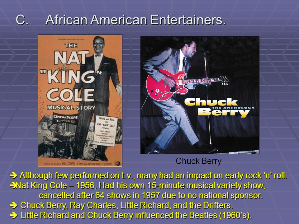 C. African American Entertainers.