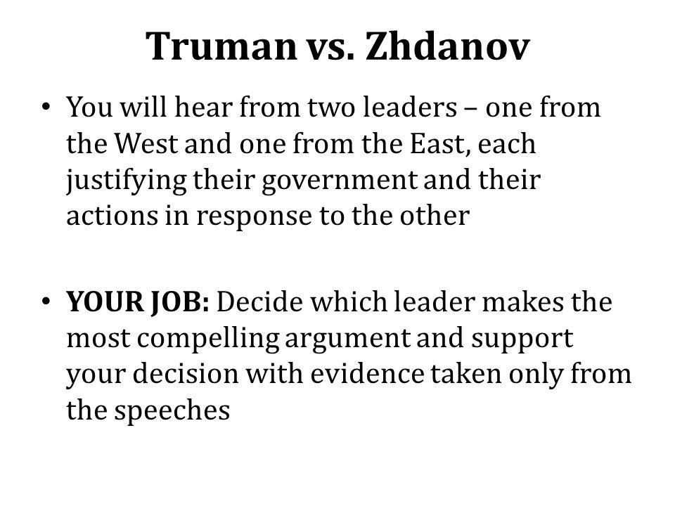 Truman vs. Zhdanov