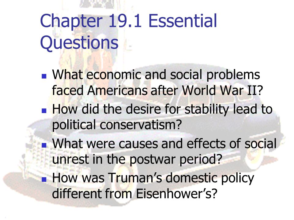 Chapter 19.1 Essential Questions