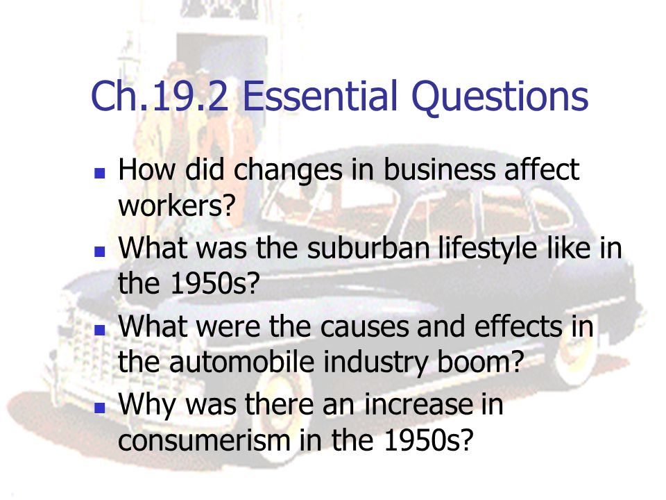 Ch.19.2 Essential Questions