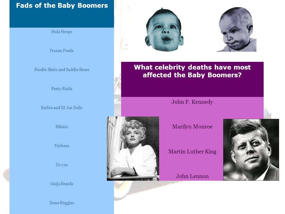 Fads of the Baby Boomers