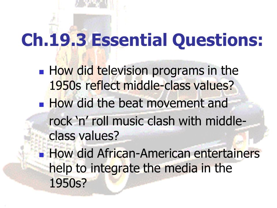 Ch.19.3 Essential Questions:
