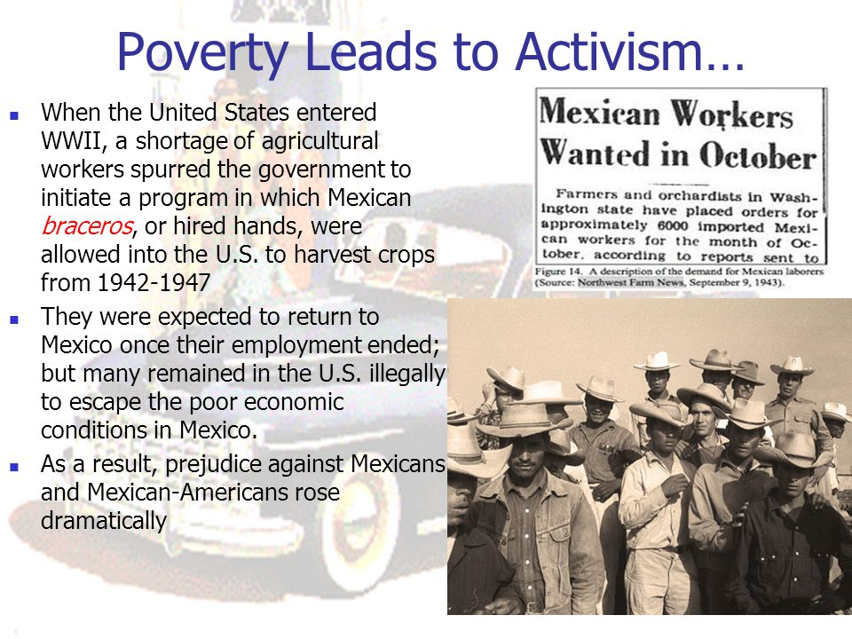 Poverty Leads to Activism…