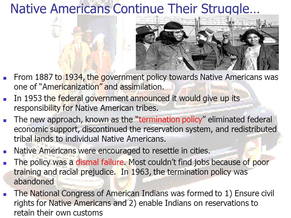 Native Americans Continue Their Struggle…