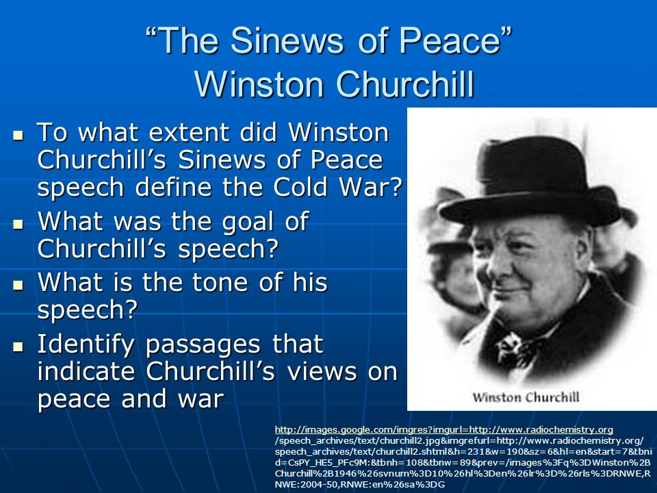 The Sinews of Peace Winston Churchill