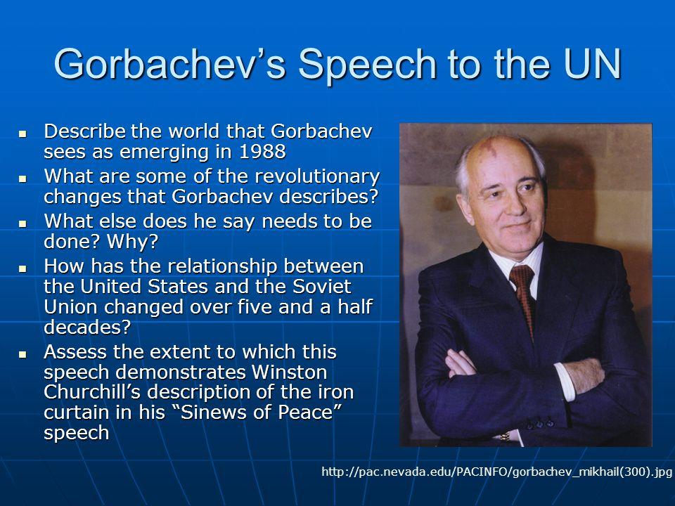 Gorbachev's Speech to the UN