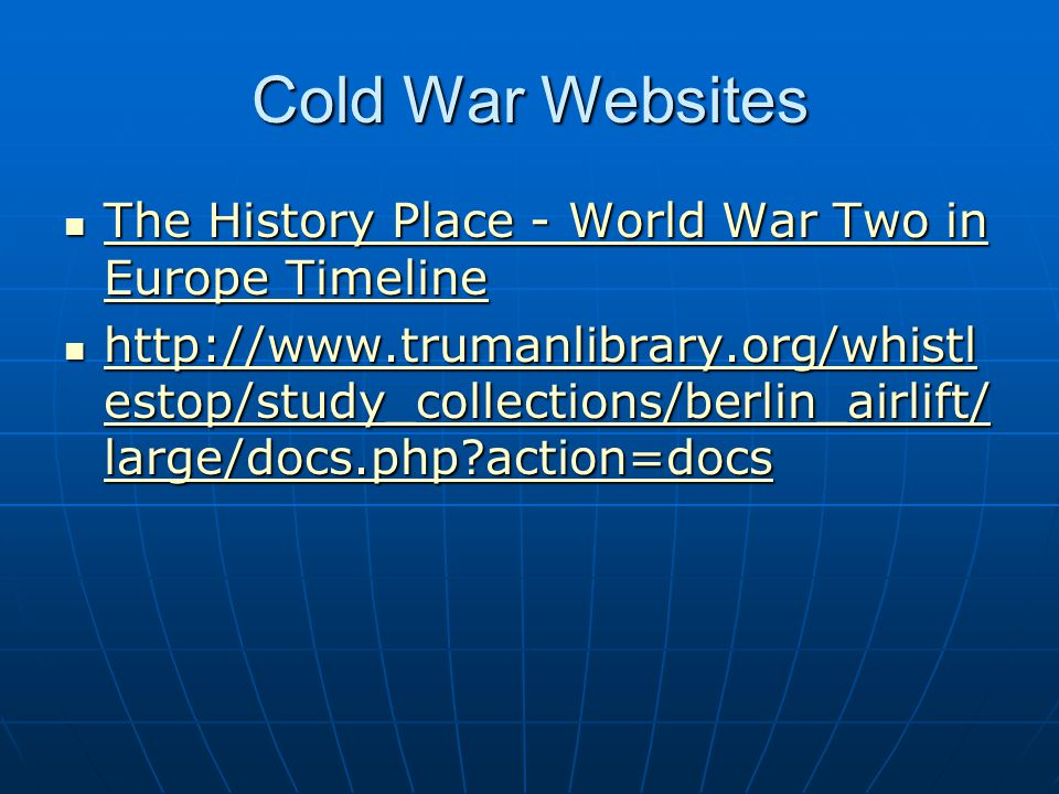 Cold War Websites The History Place - World War Two in Europe Timeline