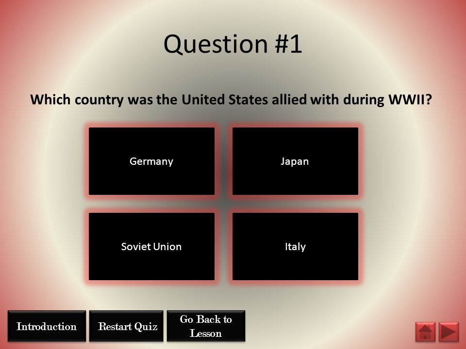 Which country was the United States allied with during WWII